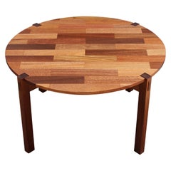 Modern Danish Style Two-Toned Norm Stoeker Round Side Table
