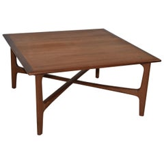 Modern Danish Teak Coffee Table by DUX, Folke Ohlsson Designer