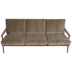 Danish Mid Century Modern Three Seat Sofa