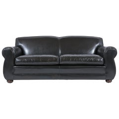 Modern Leather Club Sofa
