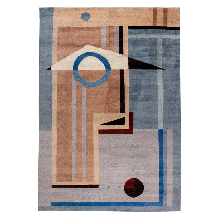 Modern Deco Designed Rug For Sale