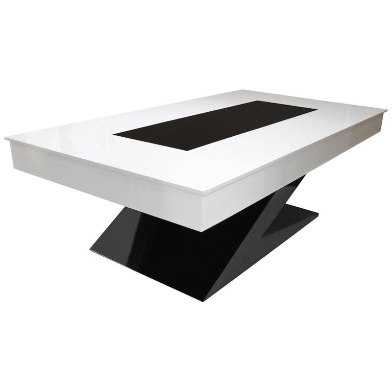 Fabulous Modern Design Dining Billiard Snooker Pool Ping Pong Table In Black White Blue Download Free Architecture Designs Aeocymadebymaigaardcom