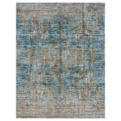 Modern Design Silk Rug Contemporary Fine Art Hand Knotted Room Size Area Carpet