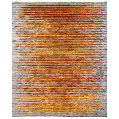 Modern Design Silk Tiger Rug Contemporary Fine Art Hand Knotted Room Size Carpet