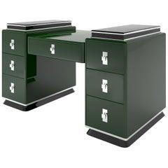 Moderne Design Tower Schreibtisch in Jaguar Racing Green