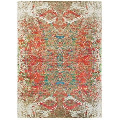 Modern Design Wool and Bamboo Silk Rug
