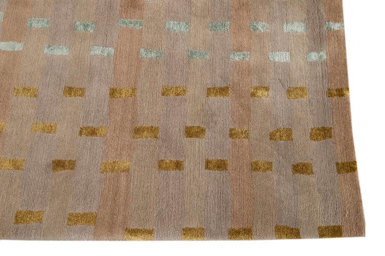 Modern Designed Tibetan Handmade Wool Rug For Sale 5