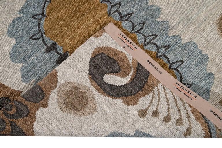 Modern Designed Tibetan Handmade Wool Rug For Sale 6