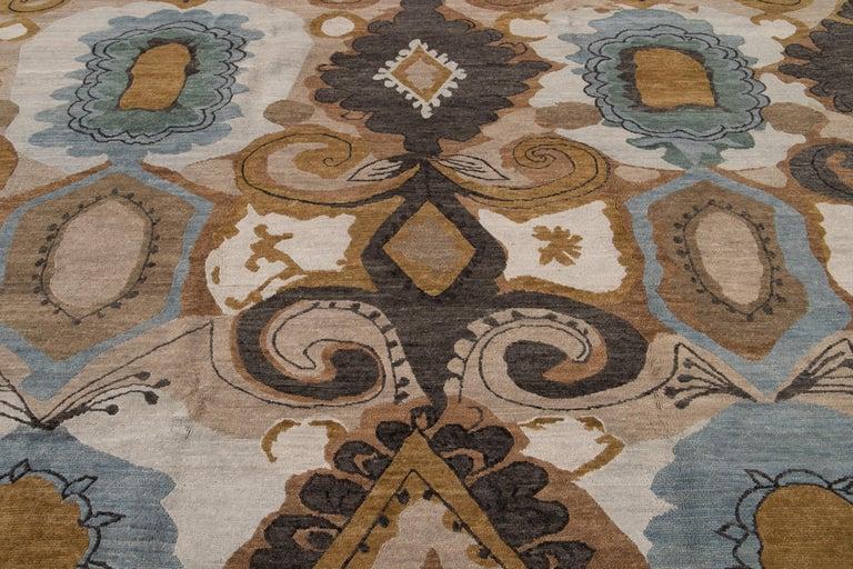 Modern Designed Tibetan Handmade Wool Rug For Sale 8