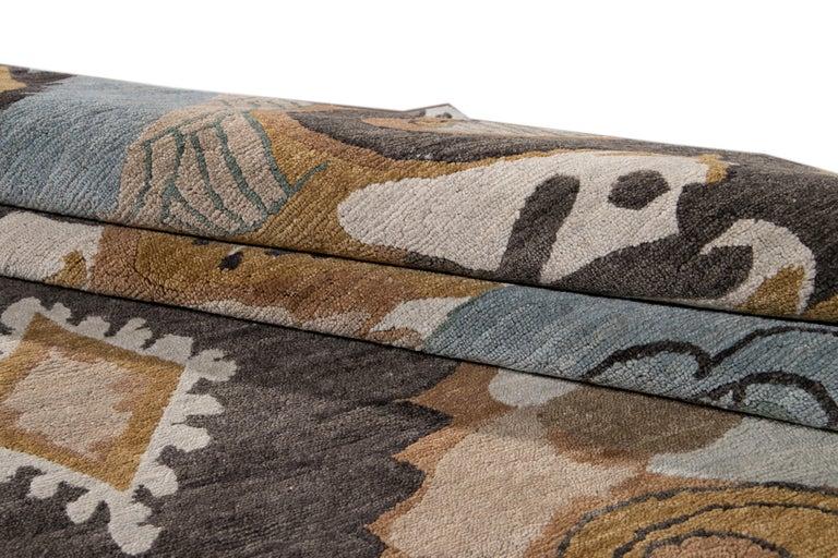 Modern Designed Tibetan Handmade Wool Rug For Sale 9