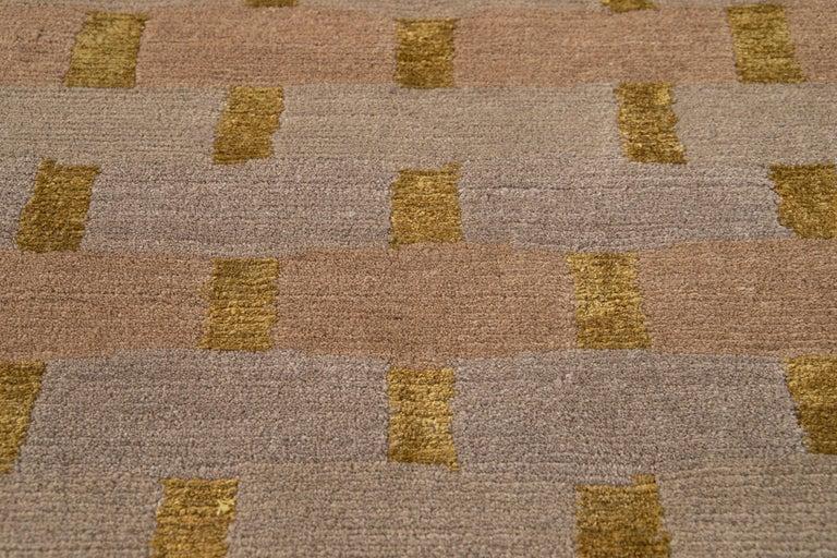 Modern Designed Tibetan Handmade Wool Rug For Sale 11