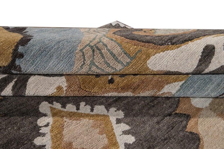 Modern Designed Tibetan Handmade Wool Rug For Sale 1