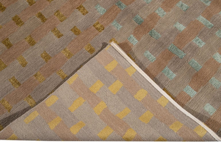 Modern Designed Tibetan Handmade Wool Rug For Sale 2