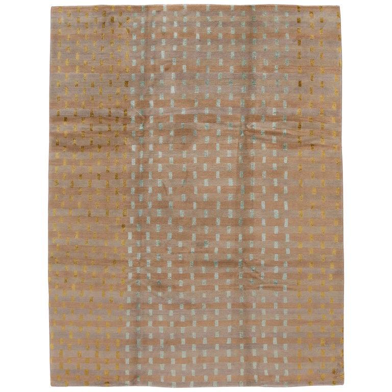 Modern Designed Tibetan Handmade Wool Rug For Sale