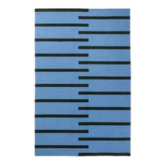 Modern Dhurrie/Kilim Rug in Scandinavian Design, Available in Many Sizes