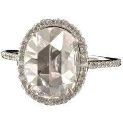 Modern Diamond 18 Karat White Gold Engagement Ring