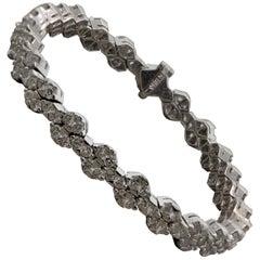 Modern Diamond Gold Tennis Bracelet