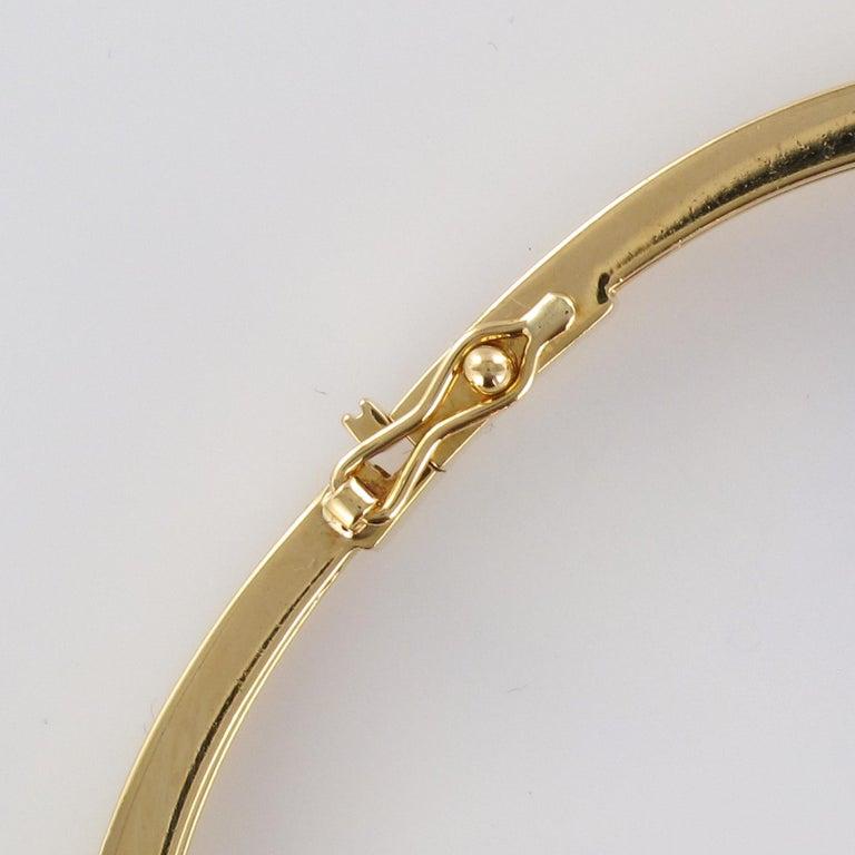 Modern Diamond Line Articulated Bangle Bracelet For Sale 6