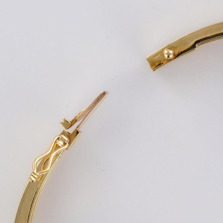 Modern Diamond Line Articulated Bangle Bracelet For Sale 7