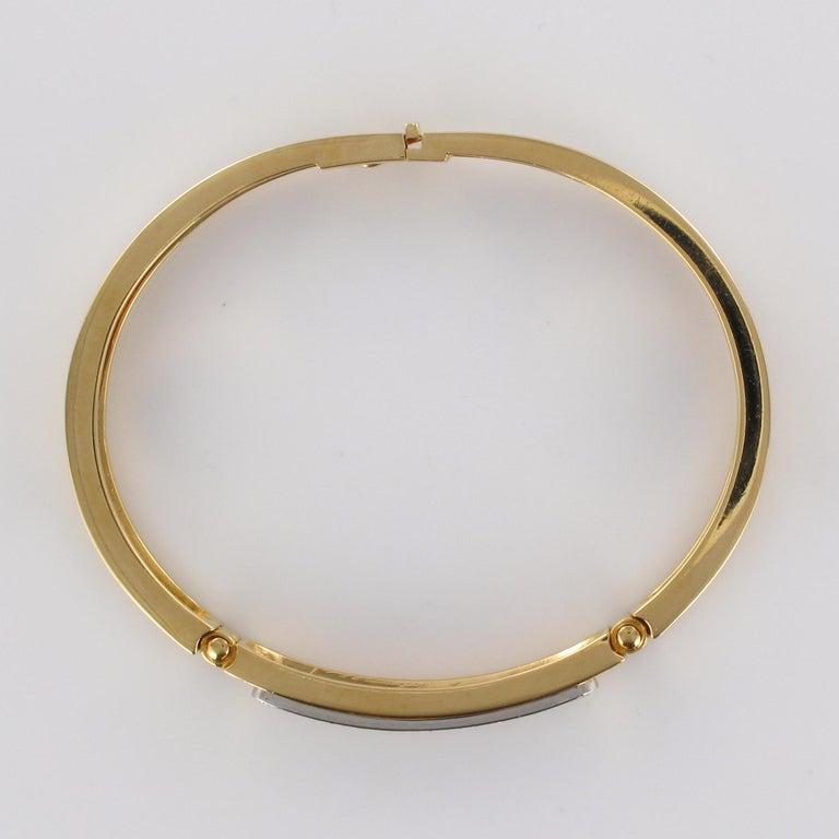Modern Diamond Line Articulated Bangle Bracelet For Sale 9
