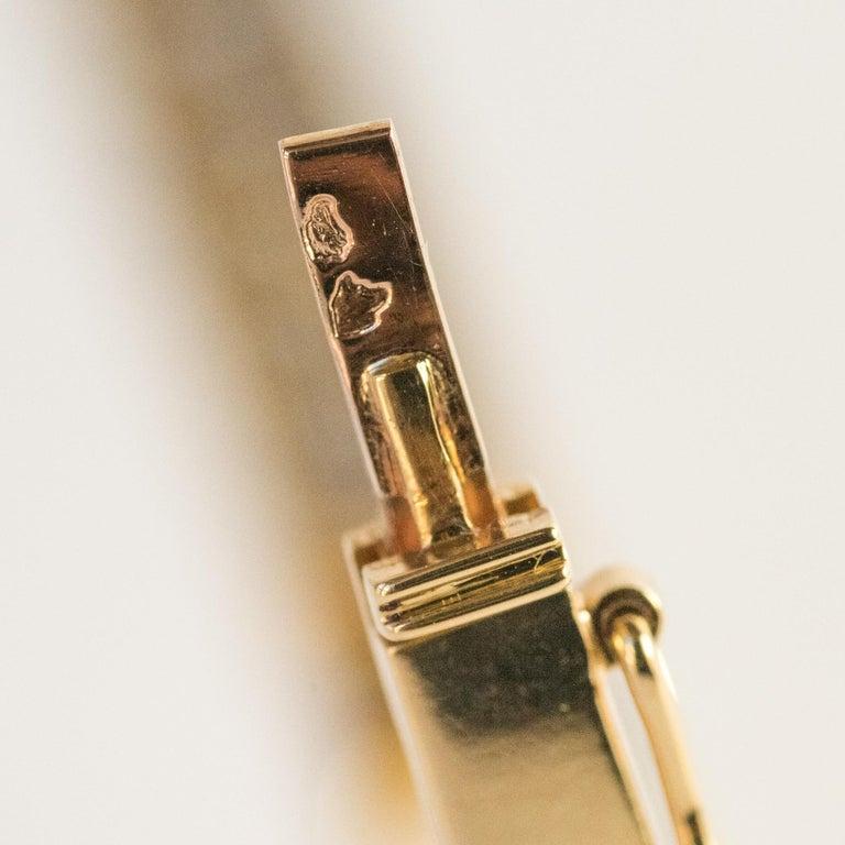 Modern Diamond Line Articulated Bangle Bracelet For Sale 11
