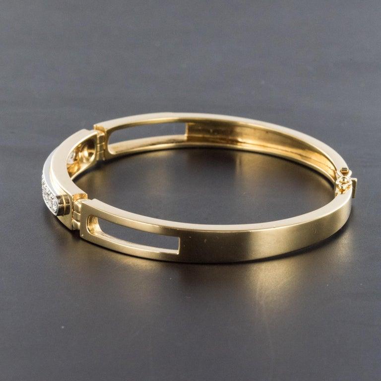 Modern Diamond Line Articulated Bangle Bracelet For Sale 5