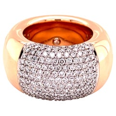 Modern Diamond Ring by Noor in 18 Karat Rose Gold and White Gold