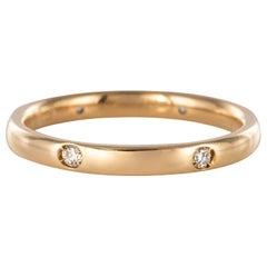 Modern Diamonds 18 Karat Yellow Gold Pomellato Luciole Wedding Ring