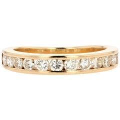 Modern Diamonds 18 Karat Yellow Gold Wedding Ring