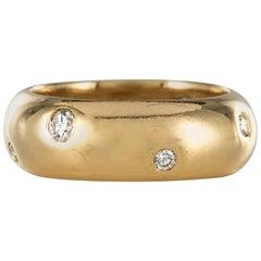 Modern Diamonds 18 Karat Yellow Gold Bangle Ring