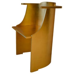 Modern Dilmos Studio Sculpture Dining Chair Handcrafted Gold Leaf