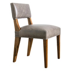 Modern Dining Chair in Argentine Exotic Wood and Leather from Costantini, Bruno