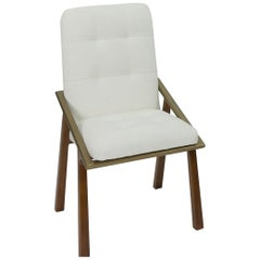 Modern Dining Chair with Tufted Back 'Customizable'
