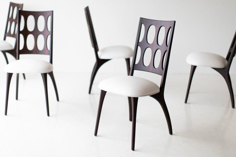 Modern Dining Chairs, 1901 for Craft Associates Furniture For Sale 4