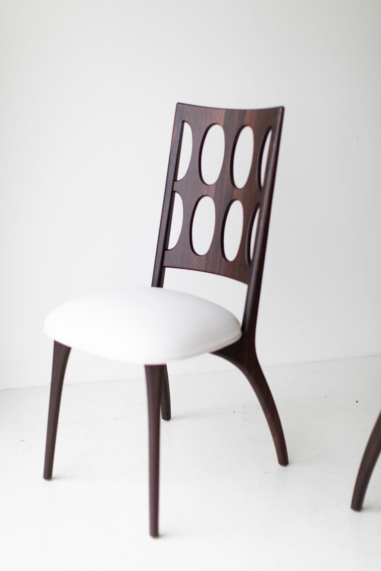 Contemporary Modern Dining Chairs, 1901 for Craft Associates Furniture For Sale