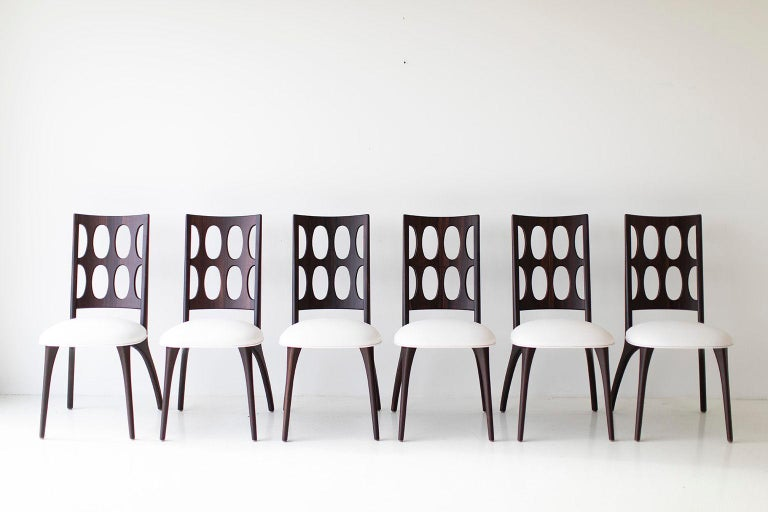 Leather Modern Dining Chairs, 1901 for Craft Associates Furniture For Sale