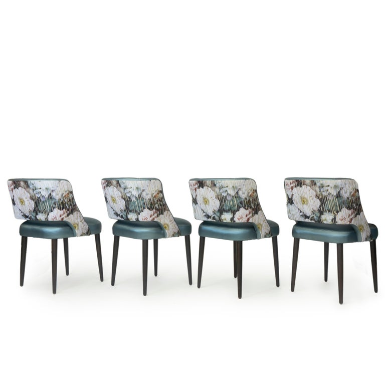 Modern Dining Room Chair with Relaxed Pitch For Sale 2
