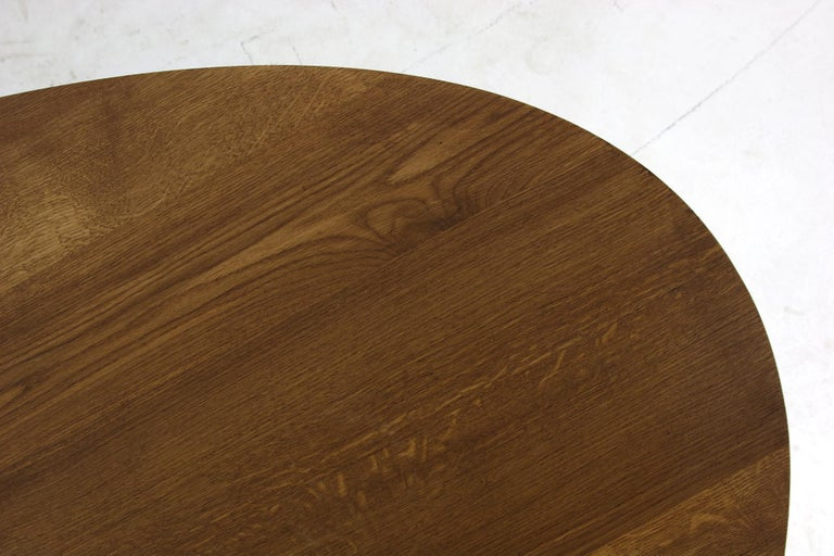 Modern Dining Room Oval Table Solid Oak, Contemporary Nathan Lindberg Pedestal B 8