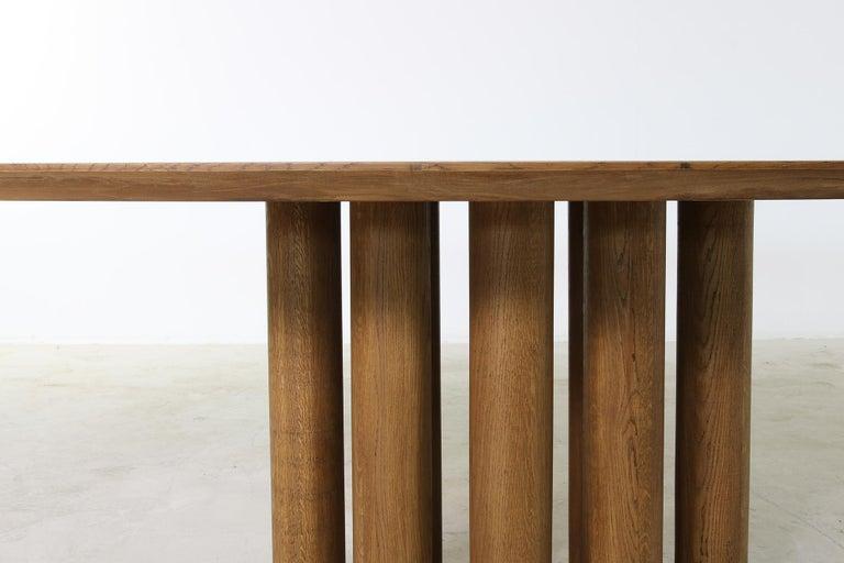 Modern Dining Room Oval Table Solid Oak, Contemporary Nathan Lindberg Pedestal C 5