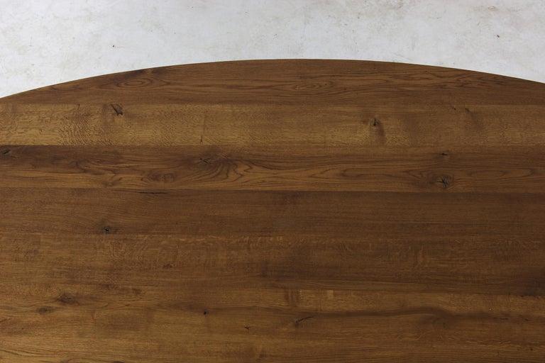 Modern Dining Room Oval Table Solid Oak, Contemporary Nathan Lindberg Pedestal C 6