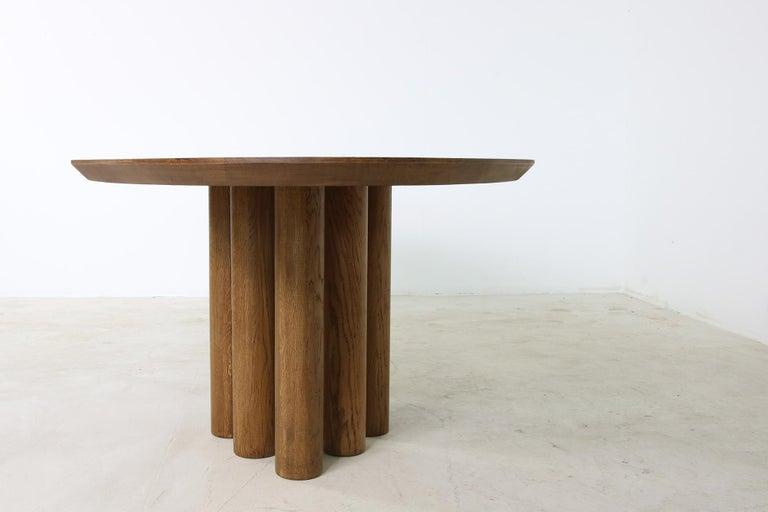 Modern Dining Room Oval Table Solid Oak, Contemporary Nathan Lindberg Pedestal C 7