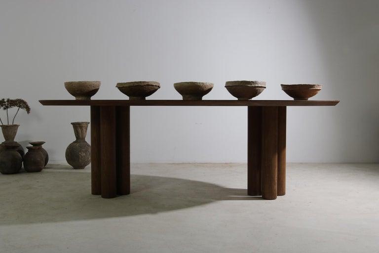Modern Dining Room Oval Table Solid Oak, Contemporary Nathan Lindberg Pedestal C 9