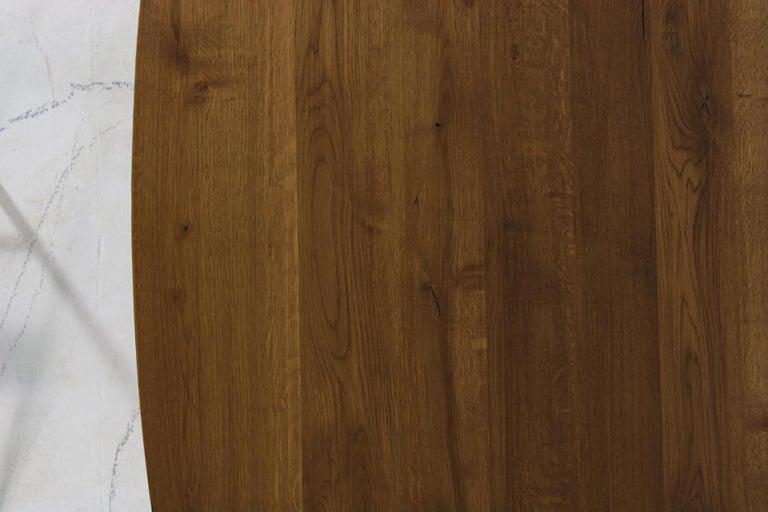 German Modern Dining Room Oval Table Solid Oak, Contemporary Nathan Lindberg Pedestal C