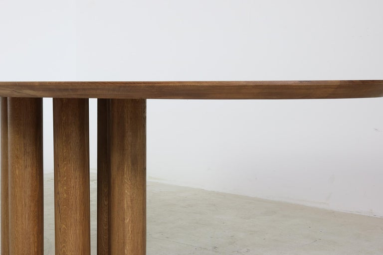 Modern Dining Room Oval Table Solid Oak, Contemporary Nathan Lindberg Pedestal C 1