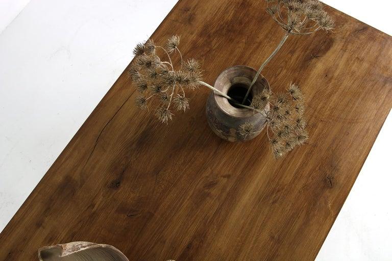 Modern Dining Room Table Solid Oak, Contemporary Nathan Lindberg Pedestal D For Sale 5