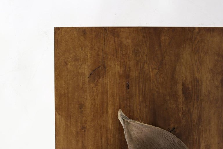 Modern Dining Room Table Solid Oak, Contemporary Nathan Lindberg Pedestal D For Sale 3