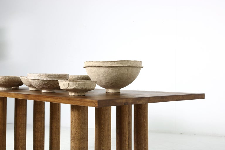 Modern Dining Room Table Solid Oak, Contemporary Nathan Lindberg Pedestal D For Sale 4