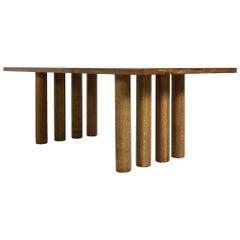 Modern Dining Room Table Solid Oak, Contemporary Nathan Lindberg Pedestal D