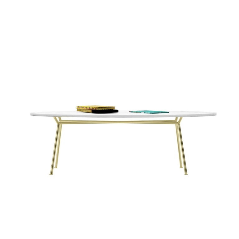 Parker Oval Marble Coffee Table Reviews: Modern Dining Table, Oval Marble Carrara And Steel Base