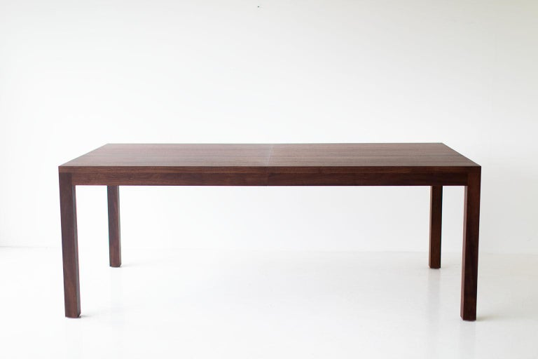 American Modern Dining Table with Extension For Sale